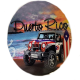 Puerto RIco and Jeep, 4 pieces Cup Holder