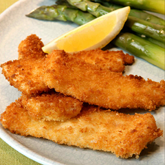 Breaded Fish Fillet in Parmesan Cheese Recipe