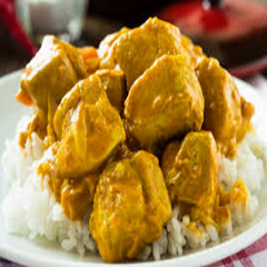 Curry Chicken Thighs with Coconut Rice Recipe