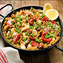 Chicken Rice Paella Recipe - www.ElColmado.com