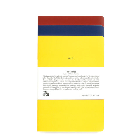 Bauhaus Set of 3 Notebooks by The School of Life