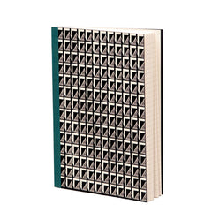 Esme Winter Stem Pattern Notebook in black and ivory