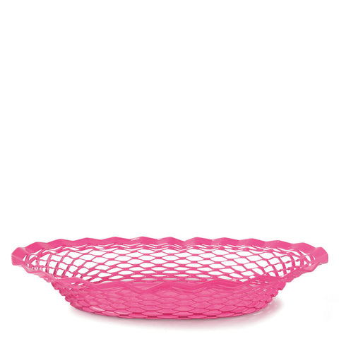 Stainless Steel Bread Basket - Pink
