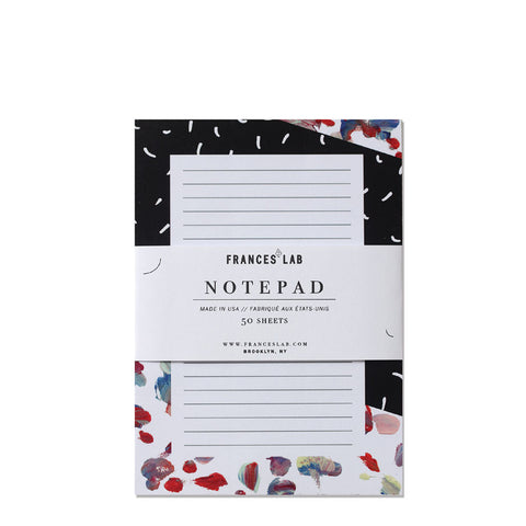 Painterly lined notepad by Frances Lab