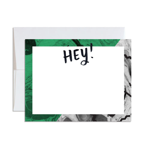Marbled Flat Note Card - Set of 12