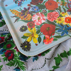 colorful flower serving tray Nathalie Lete
