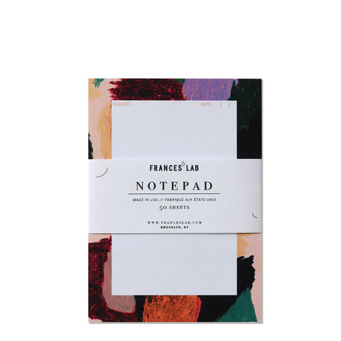 50 sheet abstract painterly style notepad by Frances Lab