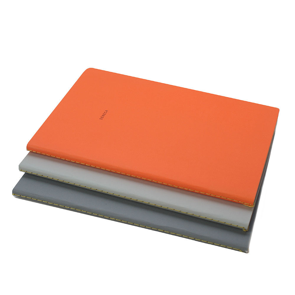 stoic notebook set with yellow stiched spines