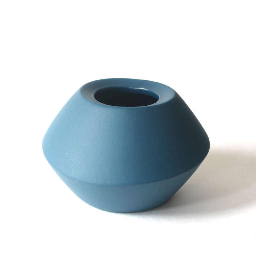small teal handmade porcelain vase by romi ceramics