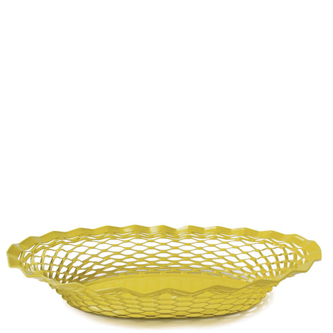 Stainless Steel Bread Basket - Yellow