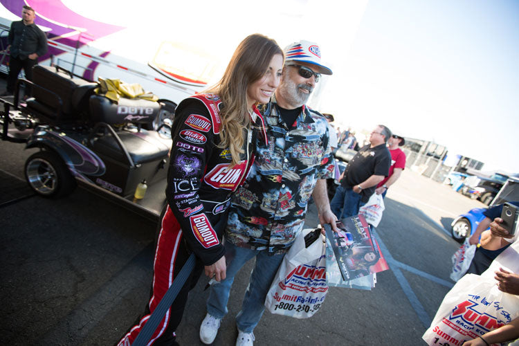 TOP FUEL RACER LEAH PRITCHETT READY TO REACH HER DREAM  WITH THE GUMOUT DRAGSTER AT NHRA U.S. NATIONALS