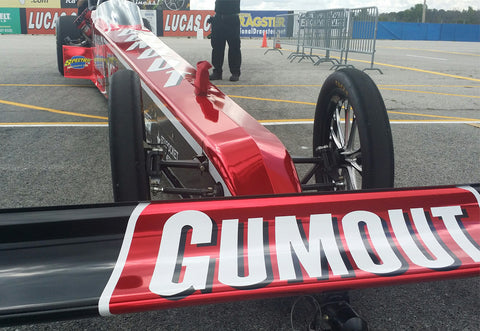 "DRAG RACING FANS VOTE NEW NAME FOR LEAH PRITCHETT'S RED CHROME GUMOUT DRAGSTER AS -- ""THE LADY IN RED"" 