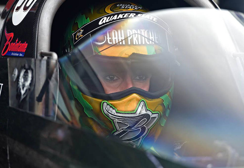 Leah Pritchett heads to the mountaintop in 4th DSR dragster for first nitro run in Mopar Mile-High Nationals near Denver | Leah Pritchett