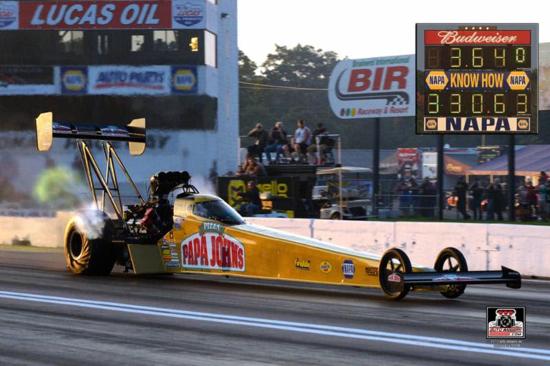 Pritchett resets her world time record in DSR's Papa John's Pizza Top Fueler at Brainerd | Leah Pritchett