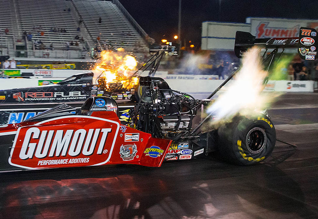 """LEAH PRITCHETT, GUMOUT """"LADY IN RED"""" DRAGSTER   RECORDS 4TH TOP FUEL QUALIFYING SPOT AT CAROLINA NATIONALS 