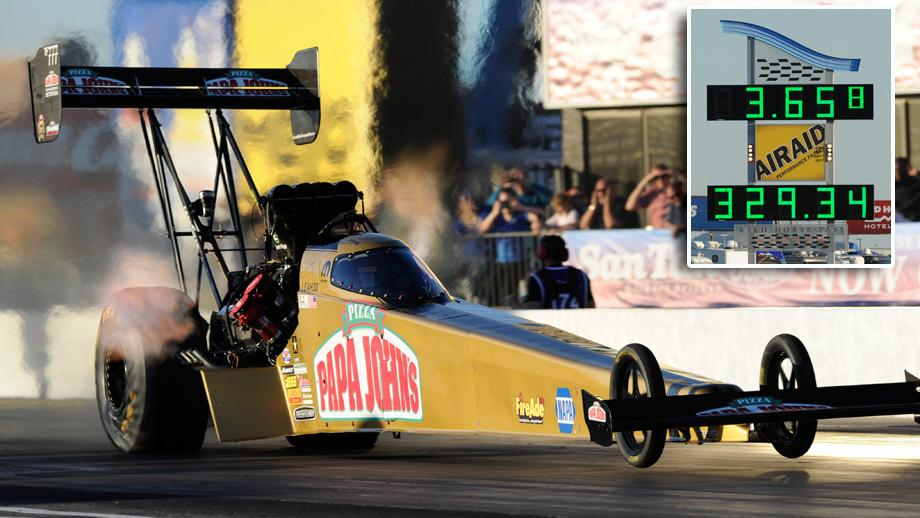 Leah Pritchett breaks NHRA Top Fuel time mark in Arizona