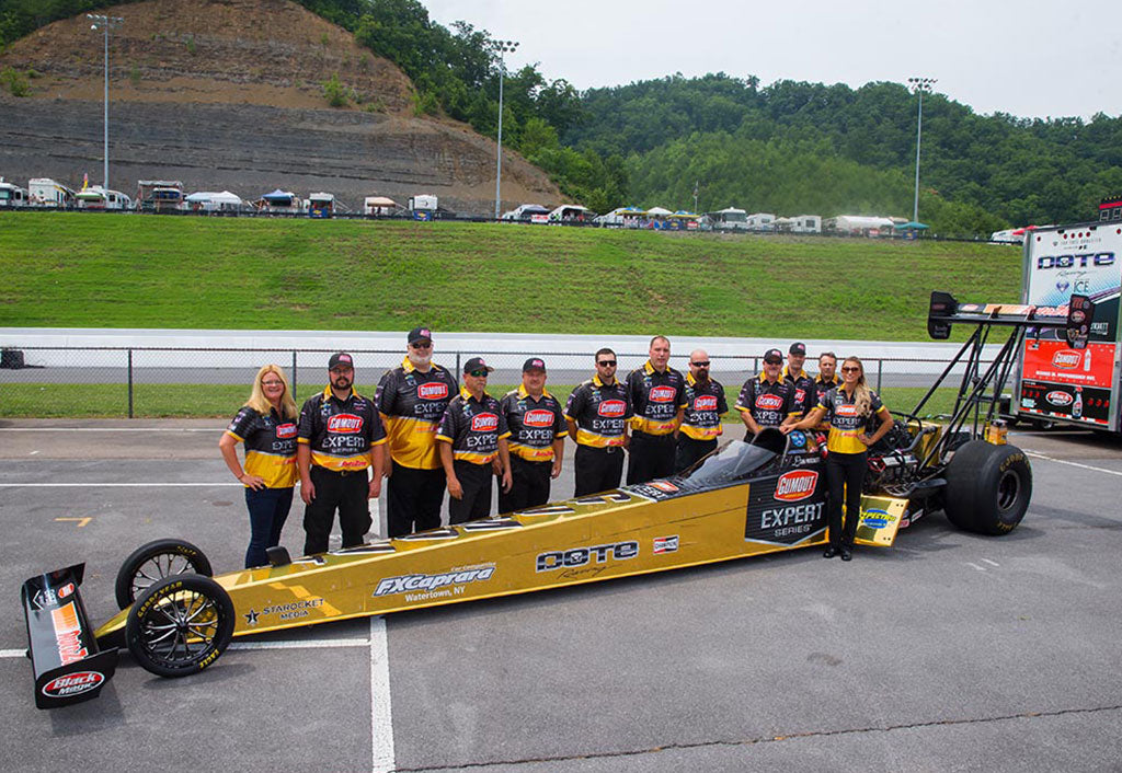 "GUMOUT ""SOLID GOLD"" TOP FUEL DRAGSTER UNVEILED FRIDAY AT BRISTOL DRAGWAY 