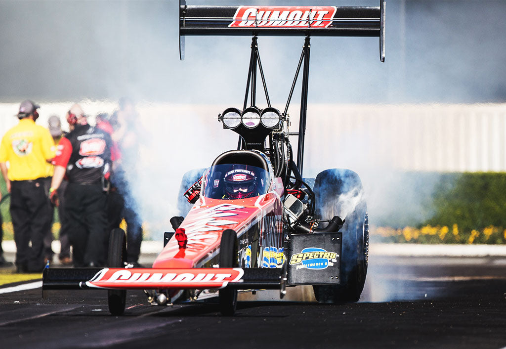 Pritchett burns rubber on drag strip | Leah Pritchett
