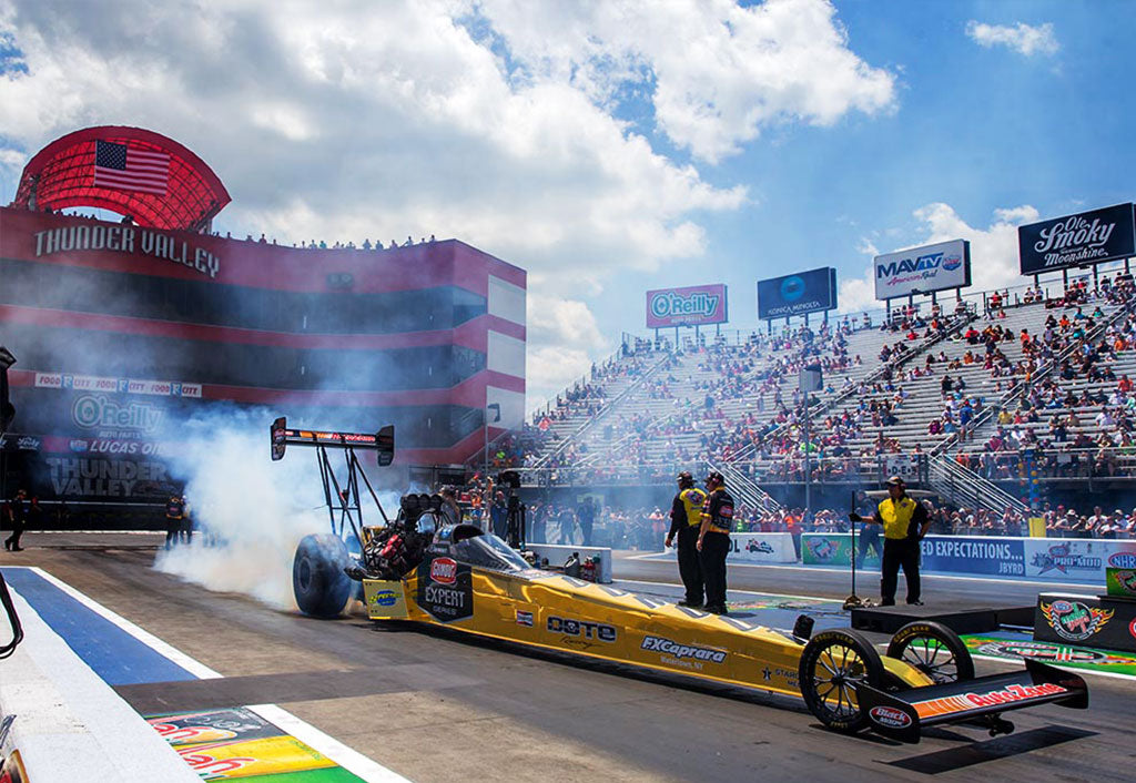 "PRITCHETT ADVANCES TO QUARTER-FINALS SUNDAY  WITH NEW GUMOUT ""SOLID GOLD"" TOP FUEL DRAGSTER 
