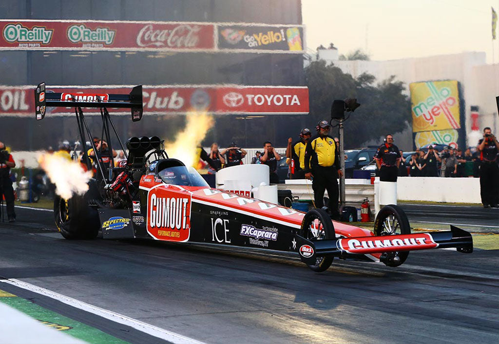 LEAH PRITCHETT COMES OFF 1ST TOP FUEL FINAL ROUND SHOWING