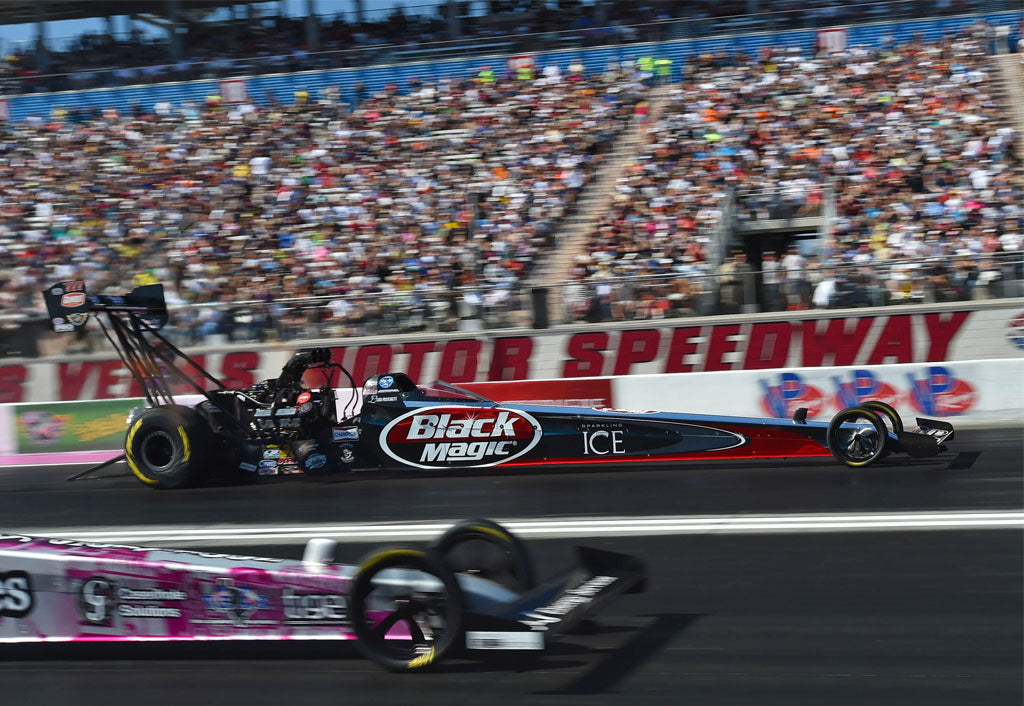 "PRITCHETT, DOTE RACING HAVE A SHORT DAY SUNDAY WITH ""BLACK MAGIC"" DRAGSTER IN LAS VEGAS 