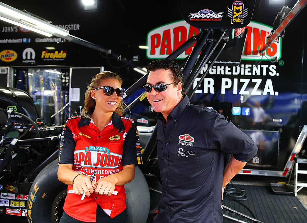 New Papa John's Pizza Ad Features Underdog Story of 330-mph Dragster Driver Leah Pritchett | Leah Pritchett