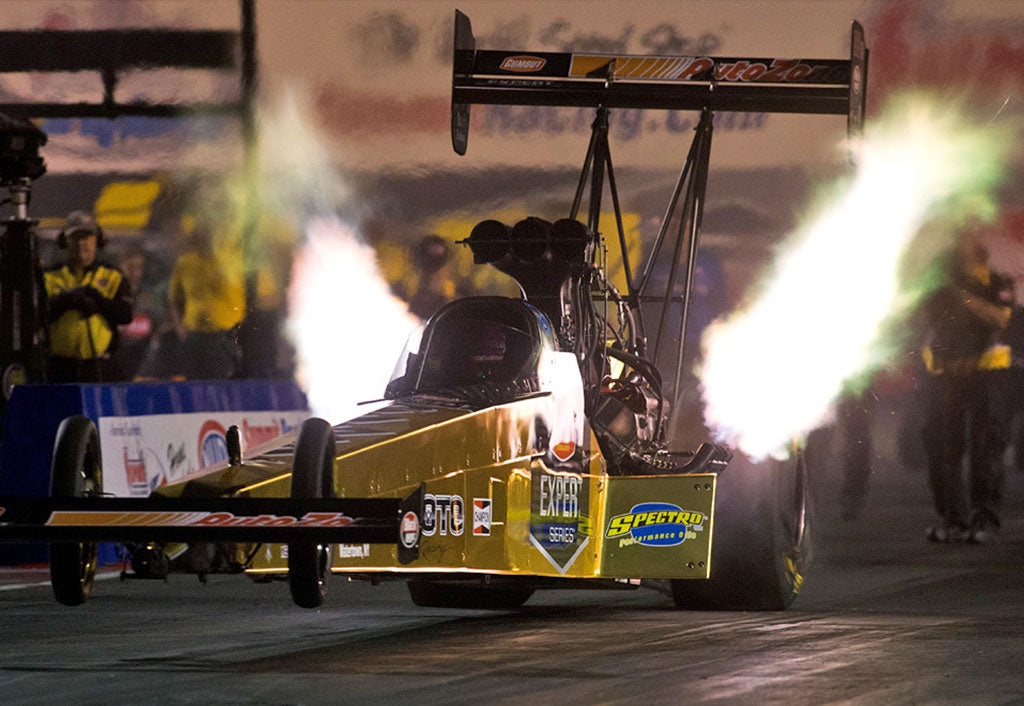 "PRITCHETT, GUMOUT ""SOLID GOLD"" TOP FUEL DRAGSTER  SUFFER TRACTION TROUBLE FRIDAY AT NORWALK 