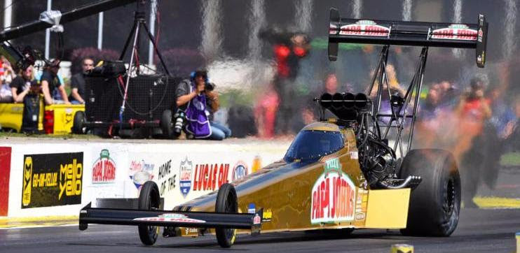Pritchett won't be in Topeka grandstands this year as Top Fuel leader looks for season's fourth NHRA win with Papa John's Pizza dragster | Leah Pritchett