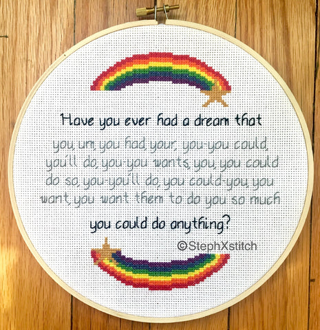 Have You Ever Had A Dream PDF Cross Stitch Pattern
