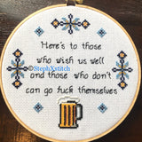 Here's To Those Who Wish Us Well - PDF Cross Stitch Pattern