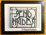 SEND NUDES - PDF Cross Stitch Pattern