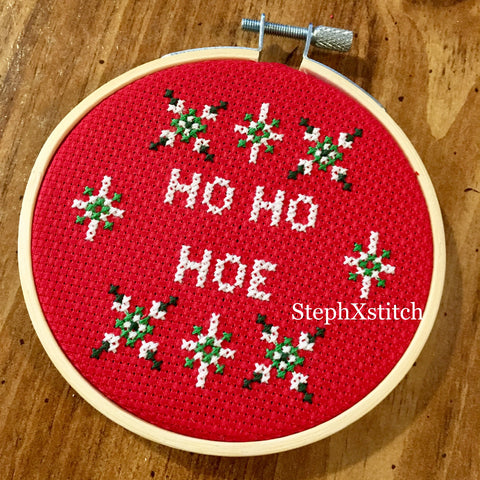 Ho Ho Hoe Funny Christmas - PDF Cross Stitch Pattern