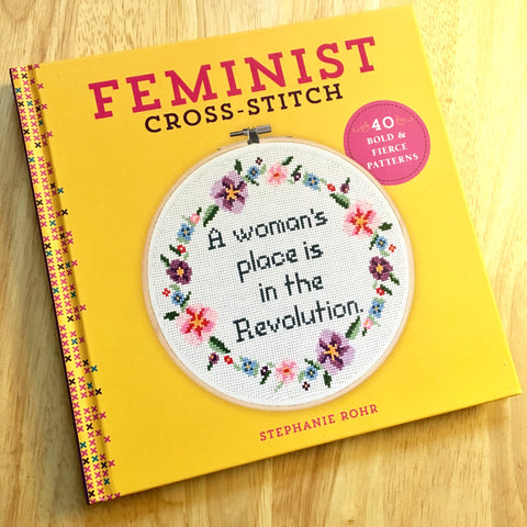 "Signed ""Feminist Cross-Stitch"" Hardcover Book"
