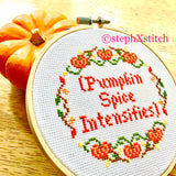 (Pumpkin Spice Intensifies) Cross Stitch Pattern