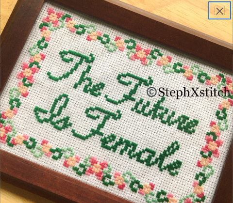 The Future Is Female - PDF Cross Stitch Pattern