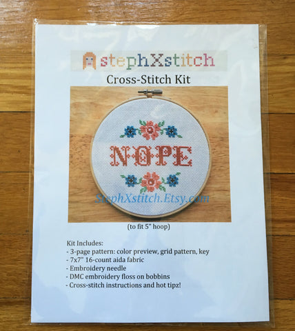 Nope - Cross Stitch Kit