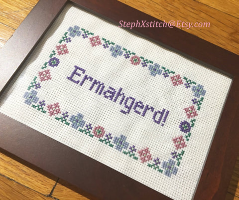 Ermahgerd - PDF Cross Stitch Pattern