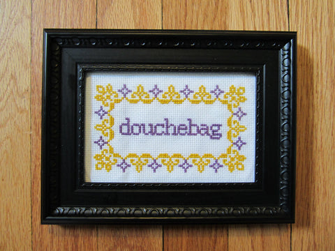 Douchebag - PDF Cross Stitch Pattern