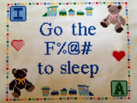 Go the Fuck to Sleep - PDF Cross Stitch Pattern