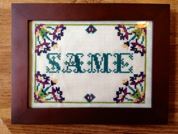 Same - PDF Cross Stitch Pattern