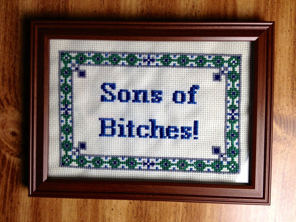 Sons of Bitches! -PDF Cross Stitch Pattern