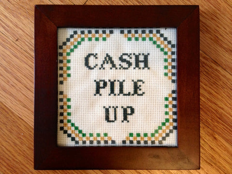 Cash Pile Up - PDF Cross Stitch Pattern