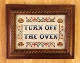 Turn Off The Oven - PDF Cross Stitch Pattern