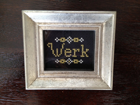 Werk - PDF Cross Stitch Pattern