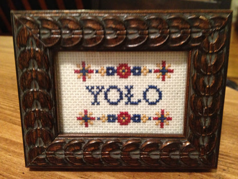 YOLO - PDF Cross Stitch Pattern