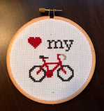 Love My Bike -PDF Cross Stitch Pattern