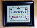 Hummus Where the Heart Is -PDF Cross Stitch Pattern