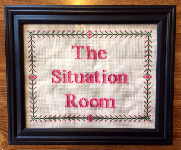 The Situation Room - PDF Cross Stitch Pattern