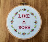 Like A Boss Subversive - PDF Cross Stitch Pattern