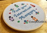 Fuck Your Internalized Misogyny - PDF Feminist Cross Stitch Pattern